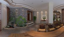 诸城向日葵装饰新中式会所设计装修案例