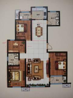 (密州)大源·紫檀文苑4室2厅2卫162.6m²豪华装修