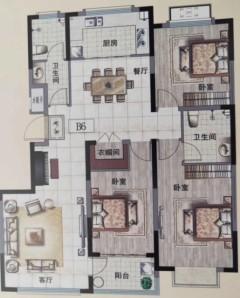 (舜王)长运·兰花清韵3室2厅2卫130m²毛坯房