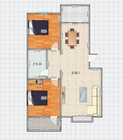 (密州)双拥阳光家园2室2厅1卫73.8万100m²带车库简单装修出售